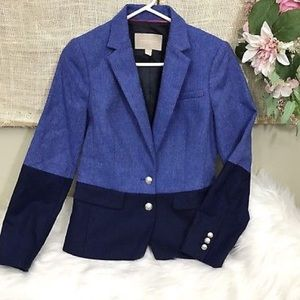 Banana Republic Hacking Jacket Blazer sz 4P Blue